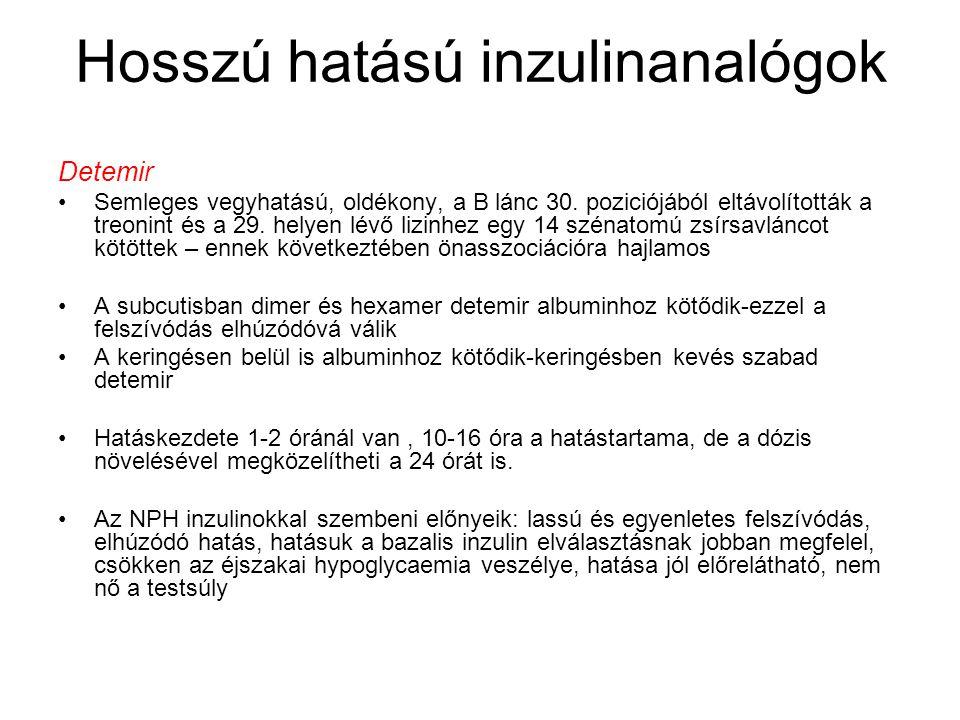 A bázis-bólus koncepció (glargin/detemir + lispro/aspart/glulisine) reggelivacsoraebédbedtime 1.Leahy JL.