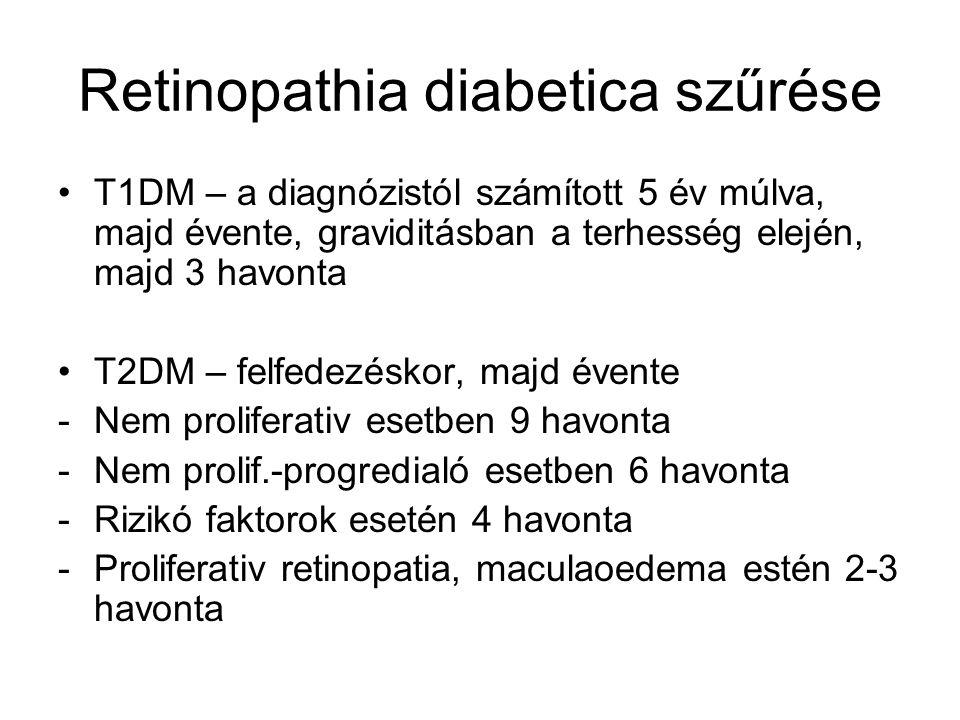 Nephropathia diabetica Egyre nő a végállapotú vesebetegségben szenvedő diabeteses betegek száma- nő a diabetes okozta vesekárosodás miatt dyalisis kezeltek száma.
