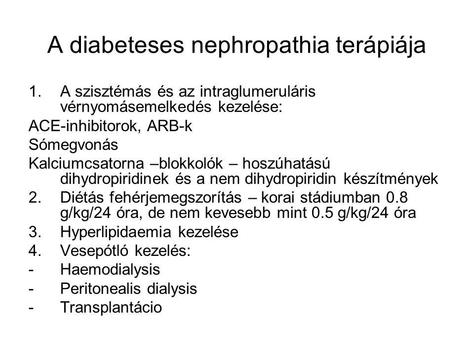 Neuropathia diabetica Somaticus 1.Distális szimmetrikus sensomotoros polyneuropathia (hypaesthesia) 2.Fájdalmas neuropathia 3.Proximális aszimerikus polyneuropathia 4.Fokális neuropathiak Autonom 1.Posturalis hypotonia 2.Perzisztáló tachycardia-fixált szívfrekvencia 3.Fájdalmatlan myocardialis ischemia – infarctus 4.Bal kamra funkcionalis károsodás 5.Hirtelen halál 6.A szívfrekvencia cirkadián ritmusának eltérése 7.A tensio cirkadián értékeinek változása 8.Gastrointestinalis traktus motilitás zavarai 9.Urogenitalis rendszer funkcionalis zavarai 10.Sudomotor-funkcio zavara – gustatory sweating