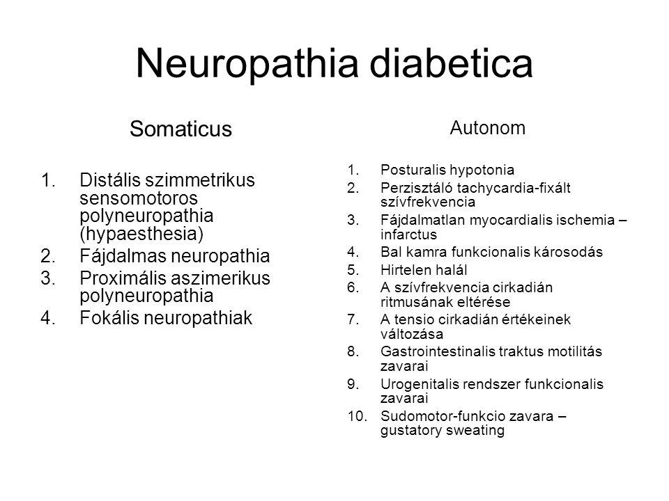 Macroangiopathia diabetica A nagyerek atherosclerosisával járó elváltozása az agy, a szív, a mesentérium és az alsóvégtag artériáiban – 2-4-szer gyakoribb, mint a nem cukorbetegek emberek között.