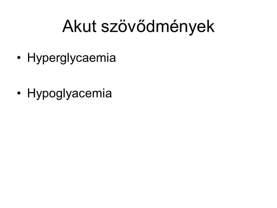 """Coma diabeticum Évente 5-12,5/1000 diabeteses beteg Az ismeretlen betegekben 19%-ban comával """"indul a diabetes Diabeteses ketoacidosis:–Kezeletlen 1-es típus (abszolút inzulinhiány), ritkábban 2-es típus (inzulinrezisztencia + kimerült inzulin termelő kapacitás)–hyperglycaemia+ hyperosmolaritás+ ketoacidosis Hyperosmolaris, nem ketoacidoticus coma: –Főleg 2-es típusú DM– hyperglycaemia+hyperosmolaritás–Ketoacidosis nincs"""