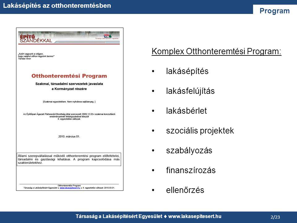 Társaság a Lakásépítésért Egyesület  www.lakasepitesert.hu Lakásépítés az otthonteremtésben 23/23 Köszönöm a figyelmet.