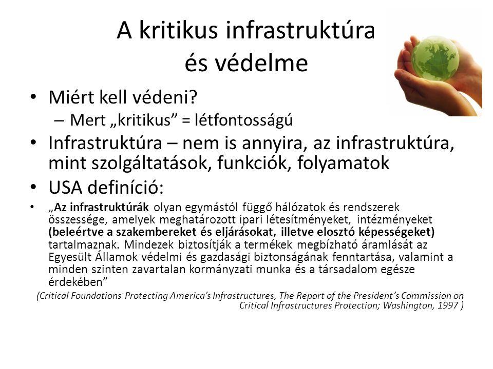 A kritikus infrastruktúra és védelme Miért kell védeni.