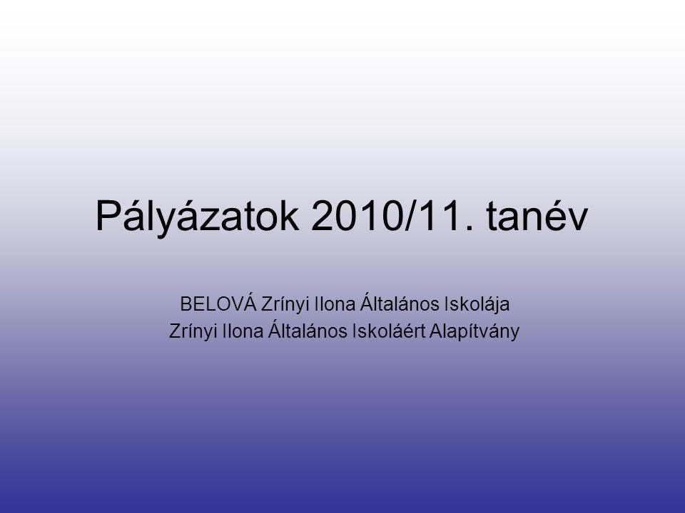 Pályázatok 2010/11.