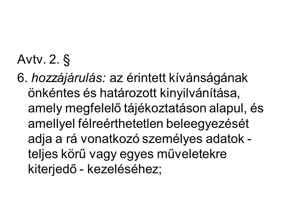 Avtv. 2. § 6.