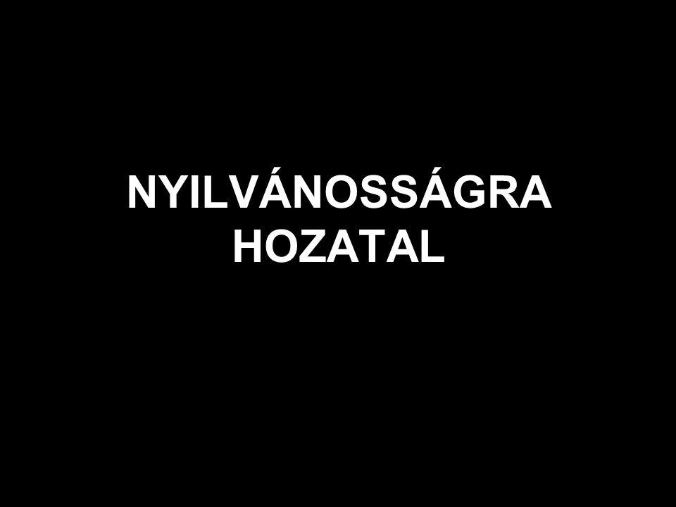 NYILVÁNOSSÁGRA HOZATAL