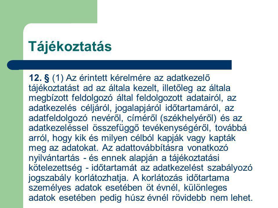 Tájékoztatás 12.