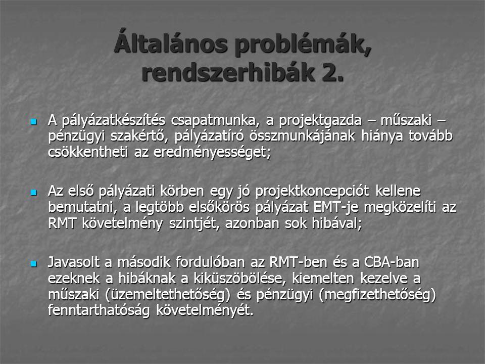 Általános problémák, rendszerhibák 2.