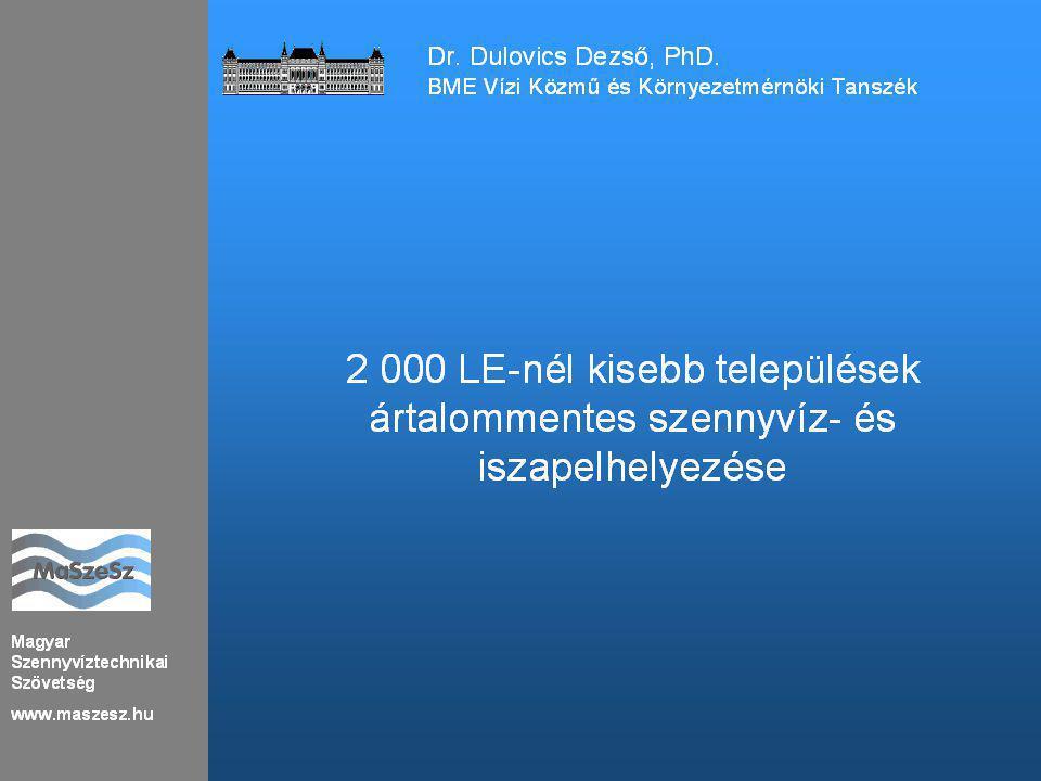 Magyar Szennyvíztechnikai Szövetség www.maszesz.hu 2 000 LE Telepszám 77 db 268 db Lakosszám 84 724 5 262 597 Kapacitás 28 500 m 3 /d 1 087 935 m 3 /d Kihasználtság48 %-os 58 %-os 11 Dr.