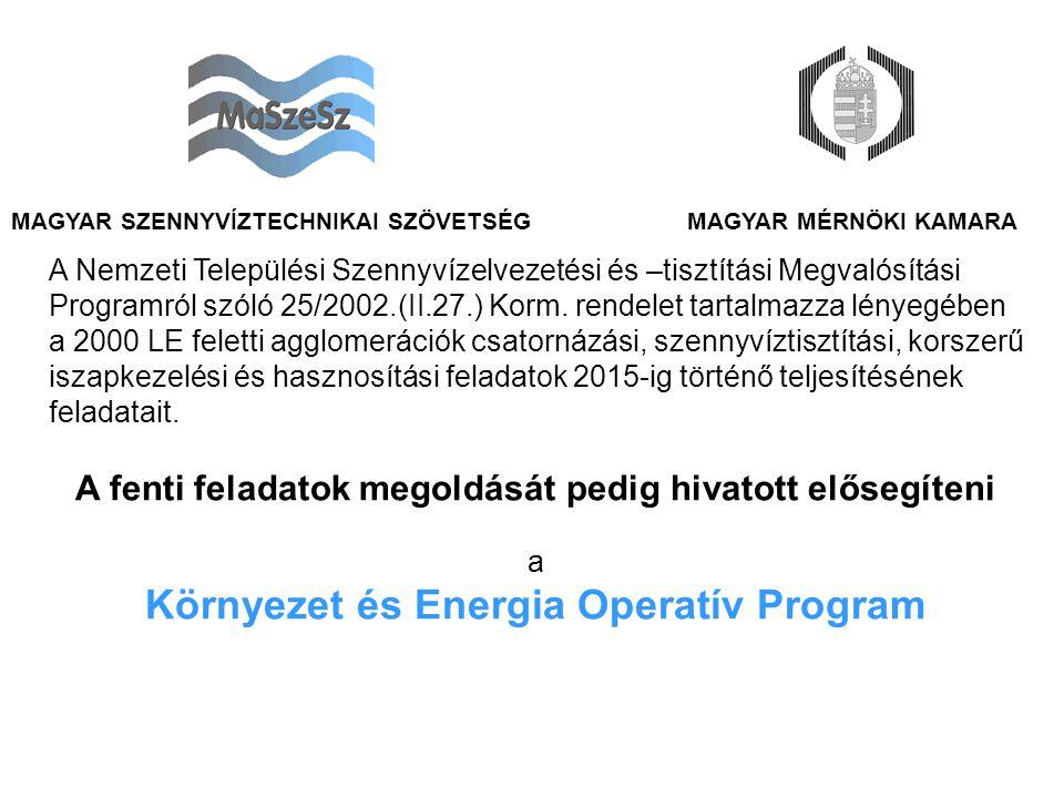 MAGYAR MÉRNÖKI KAMARAMAGYAR SZENNYVÍZTECHNIKAI SZÖVETSÉG A Nemzeti Települési Szennyvízelvezetési és –tisztítási Megvalósítási Programról szóló 25/2002.(II.27.) Korm.