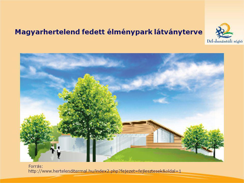Magyarhertelend fedett élménypark látványterve Forrás: http://www.hertelenditermal.hu/index2.php?fejezet=fejlesztesek&oldal=1