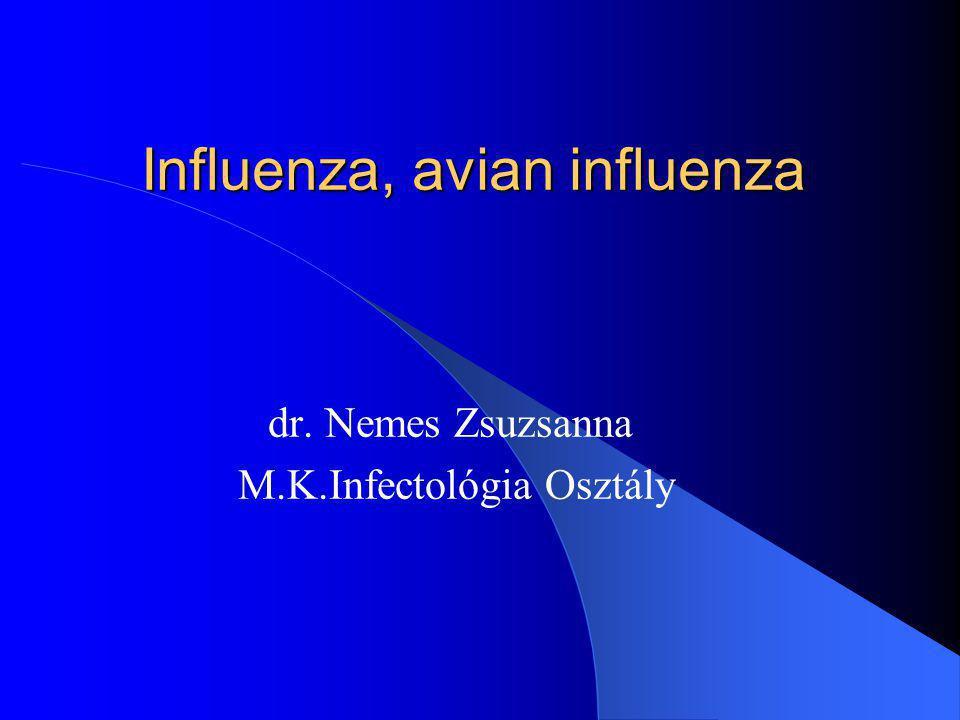 Influenza, avian influenza dr. Nemes Zsuzsanna M.K.Infectológia Osztály