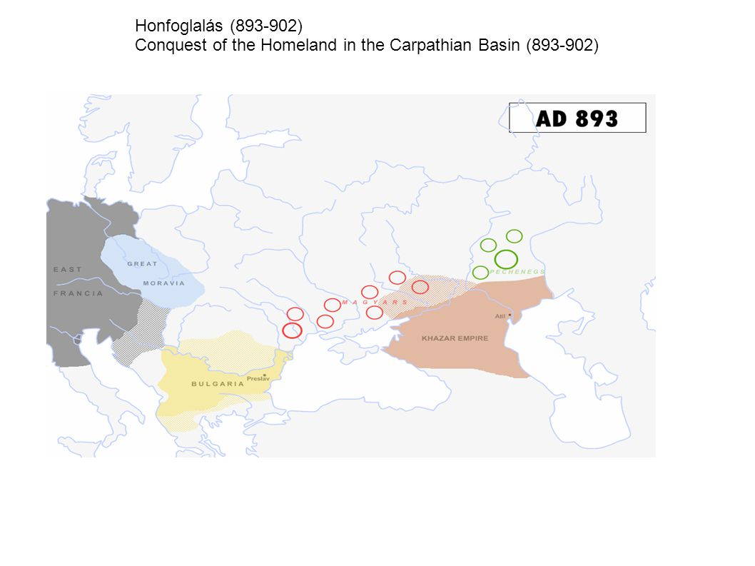 Honfoglalás (893-902) Conquest of the Homeland in the Carpathian Basin (893-902)
