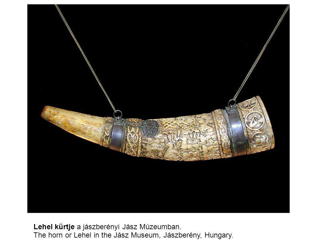 Lehel kürtje a jászberényi Jász Múzeumban. The horn or Lehel in the Jász Museum, Jászberény, Hungary.