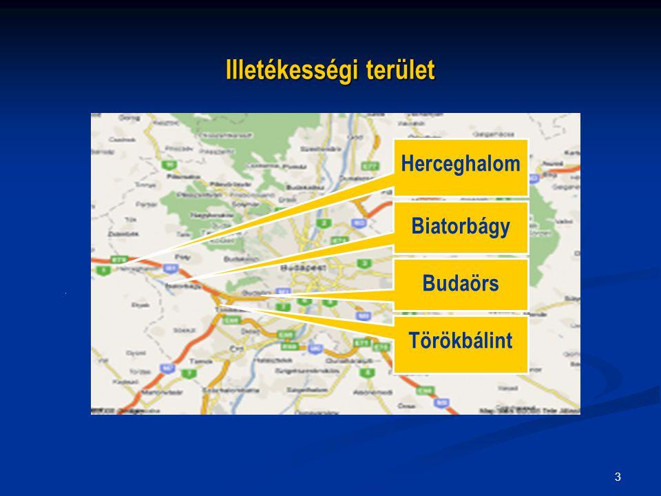 3 Illetékességi terület Biatorbágy Budaörs Törökbálint Herceghalom