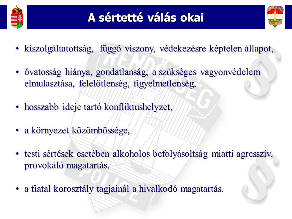 8 Családon belüli erőszak A családon belüli erőszak kezelésével és a kiskorúak védelmével kapcsolatos rendőri feladatok 2003-tól az intézkedés bevezetése előtt - civil szervezetek szerepe 1994.