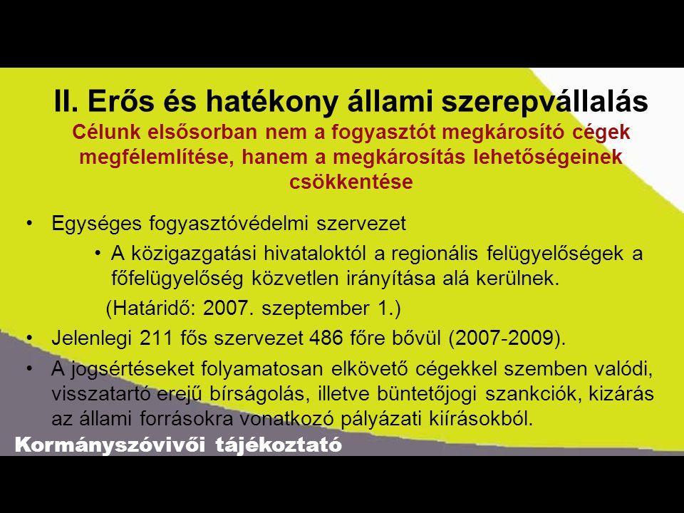 Kormányszóvivői tájékoztató II.