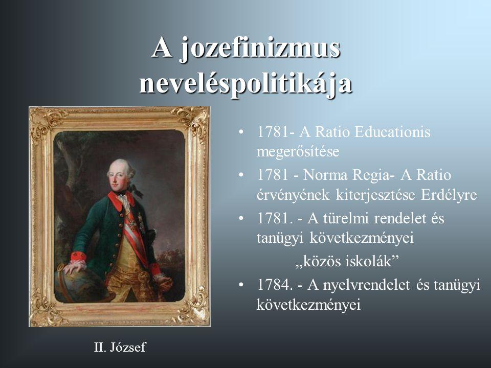 """A felvilágosult rendiség oktatásügyi törekvései 1791- tanulmányi bizottság létrehozása 1793 -törvényjavaslat a """"nemzeti nevelés általános rendezéséről 1795 - Sándor Lipót """"emlékirata a magyarországi nevelésügyről 1806."""