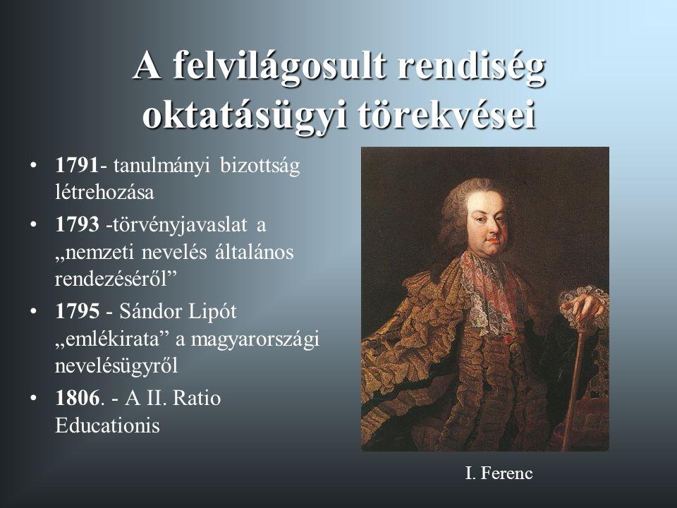 A protestánsok reformtörekvései 1806 - Systema rei Scholasticae Evangelicorum Aug.