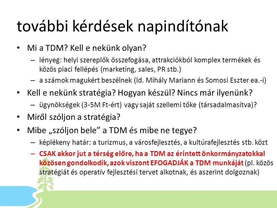 további kérdések napindítónak Mi a TDM. Kell e nekünk olyan.