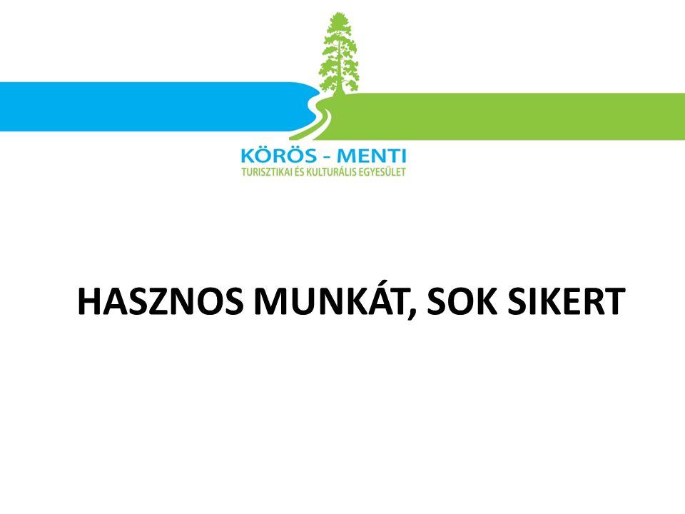 HASZNOS MUNKÁT, SOK SIKERT