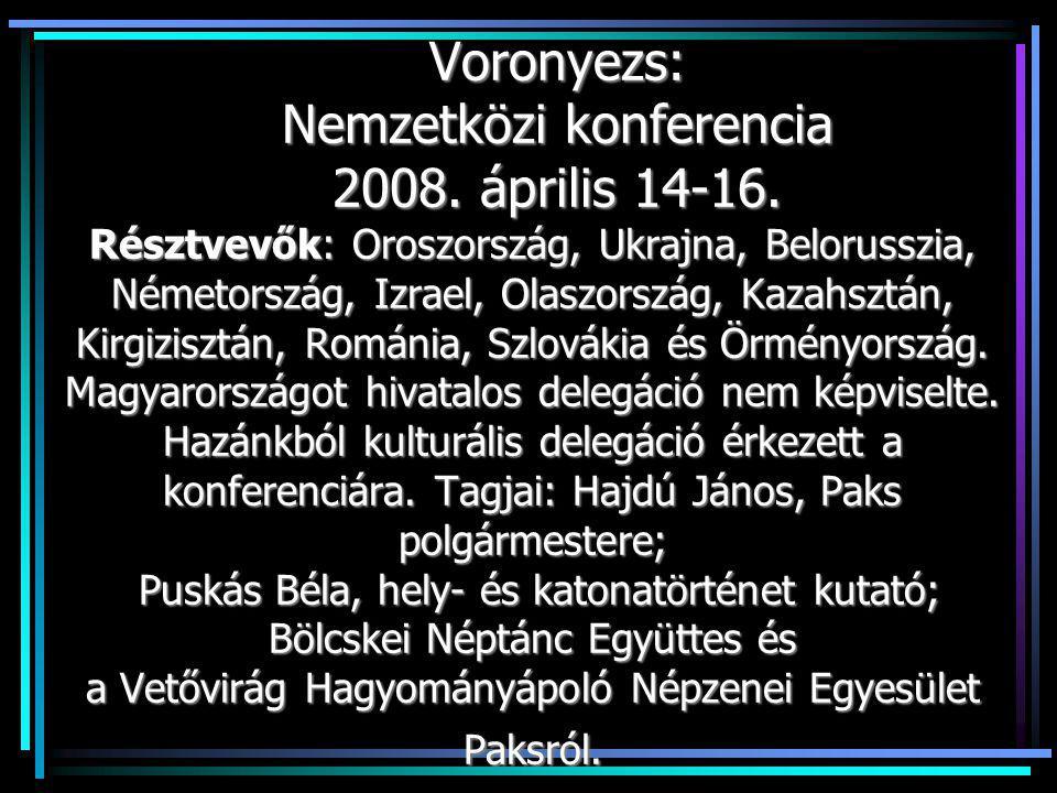Csernozjomocska (Fekete földecske) Együttes műsora az esti fogadáson