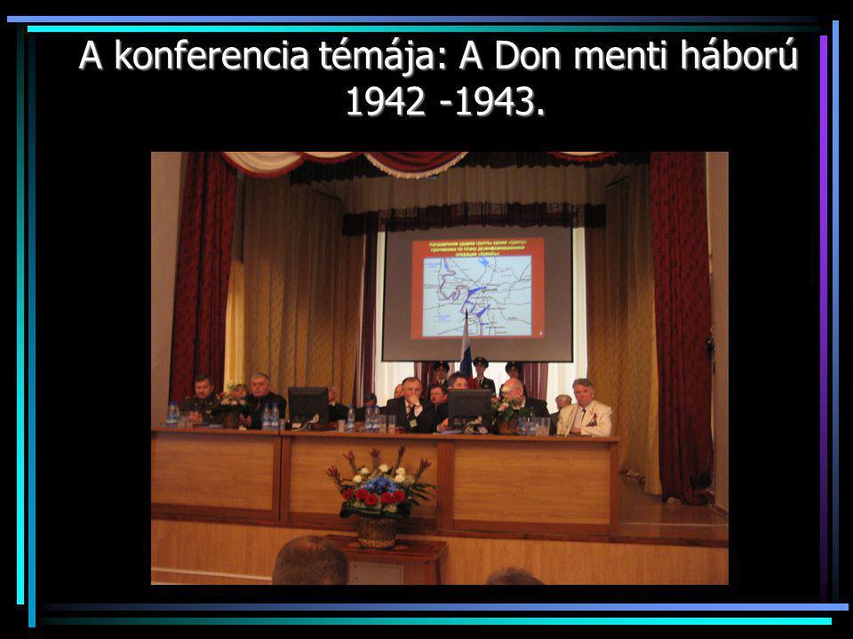 Az előadás témája: A katonasírok a népek közötti barátság szolgálatában.
