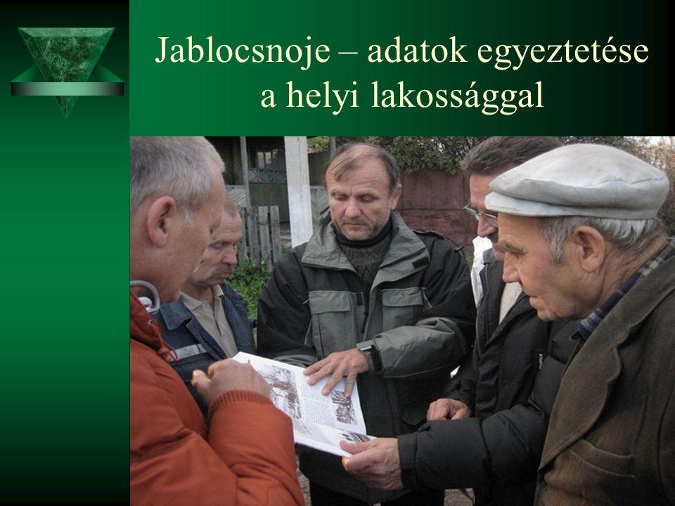 Jablocsnoje – adatok egyeztetése a helyi lakossággal