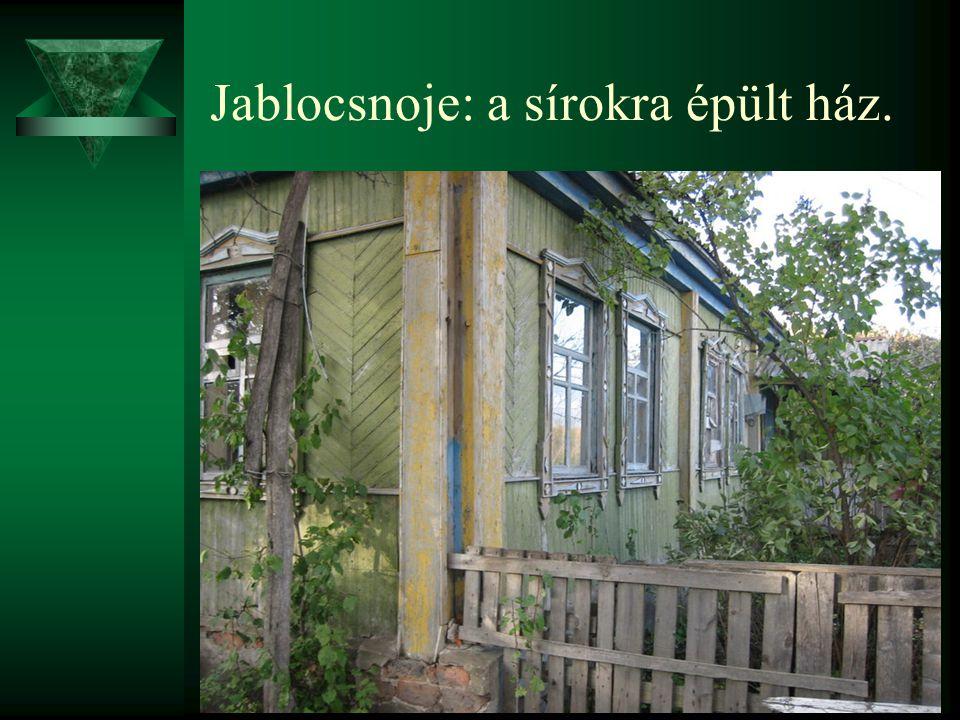 Jablocsnoje: a sírokra épült ház.