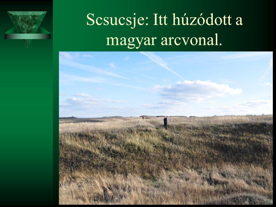 Scsucsje: Itt húzódott a magyar arcvonal.