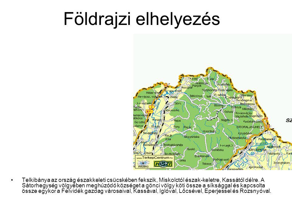 Földrajzi elhelyezés Telkibánya az ország északkeleti csücskében fekszik, Miskolctól észak-keletre, Kassától délre. A Sátorhegység völgyében meghúzódó