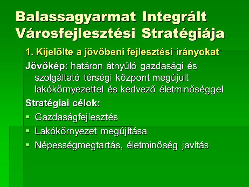 Balassagyarmat Integrált Városfejlesztési Stratégiája 1.