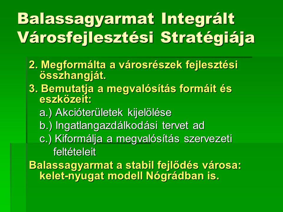 Balassagyarmat Integrált Városfejlesztési Stratégiája 2.