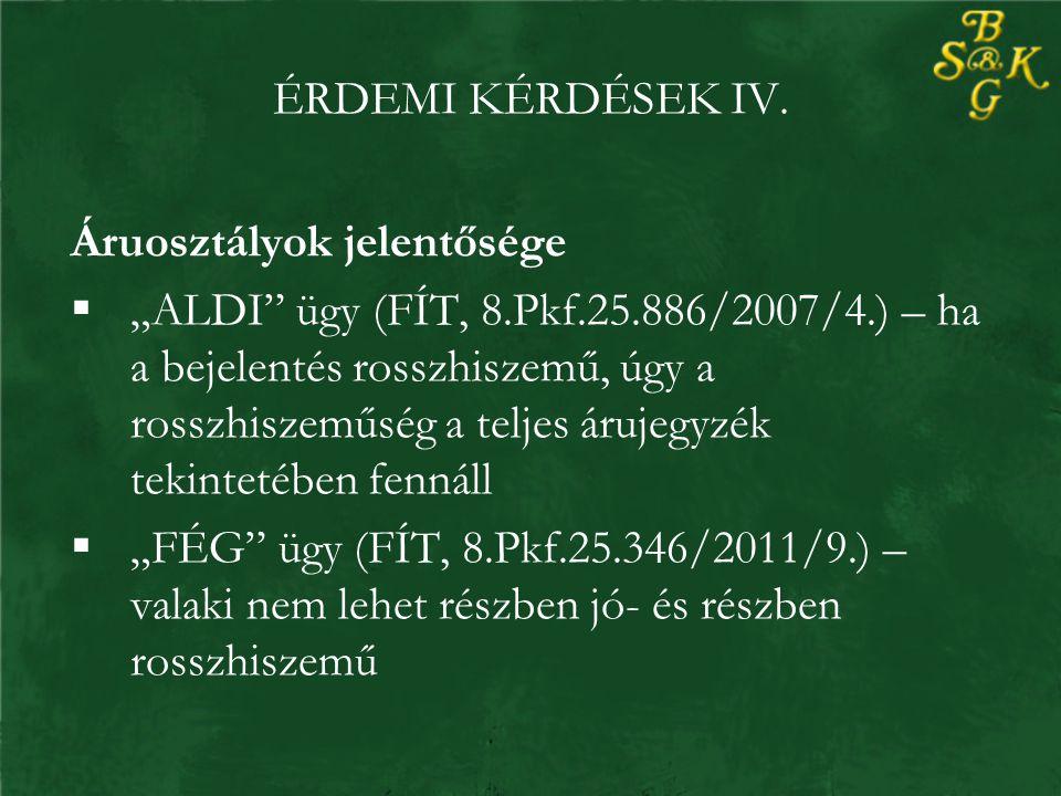 ÉRDEMI KÉRDÉSEK IV.