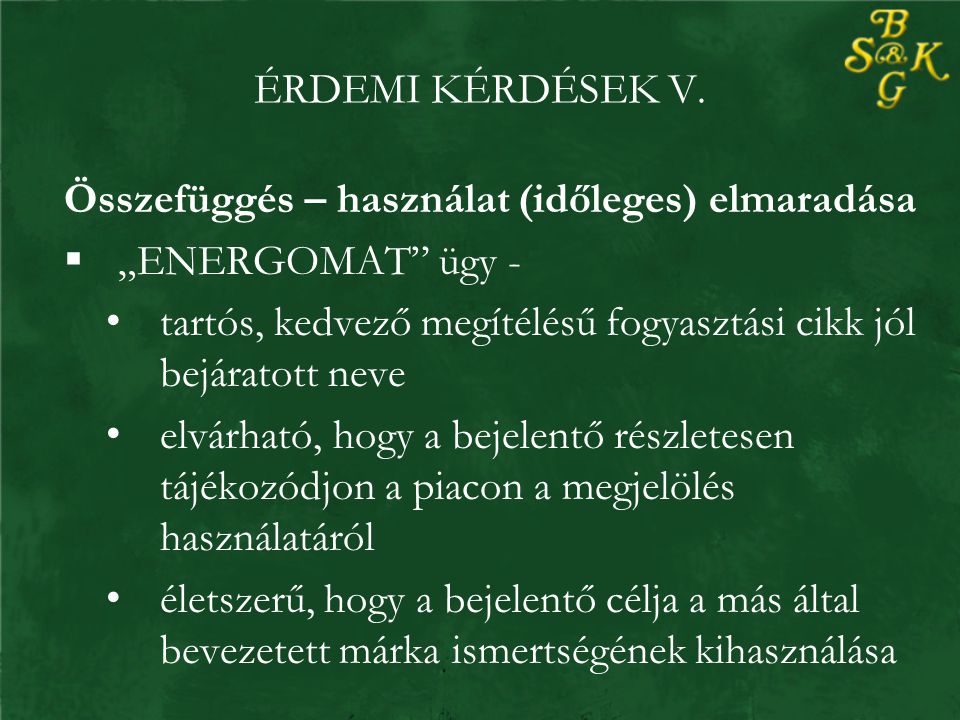 ÉRDEMI KÉRDÉSEK V.