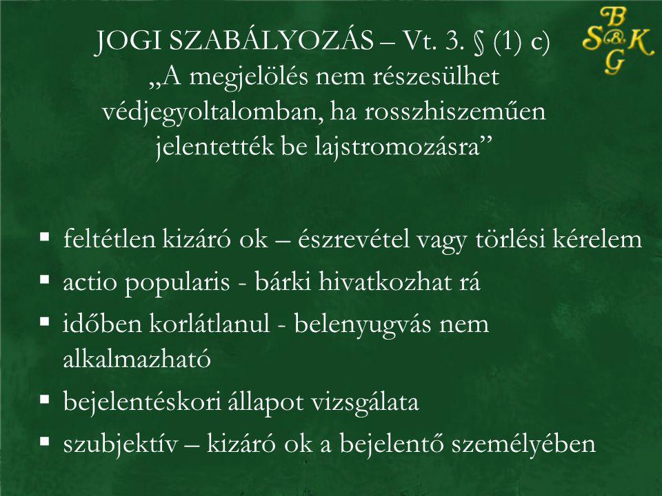 JOGI SZABÁLYOZÁS – Vt. 3.
