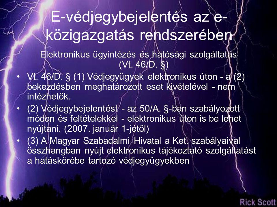 Elektronikus ügyintézés és hatósági szolgáltatás (Vt.