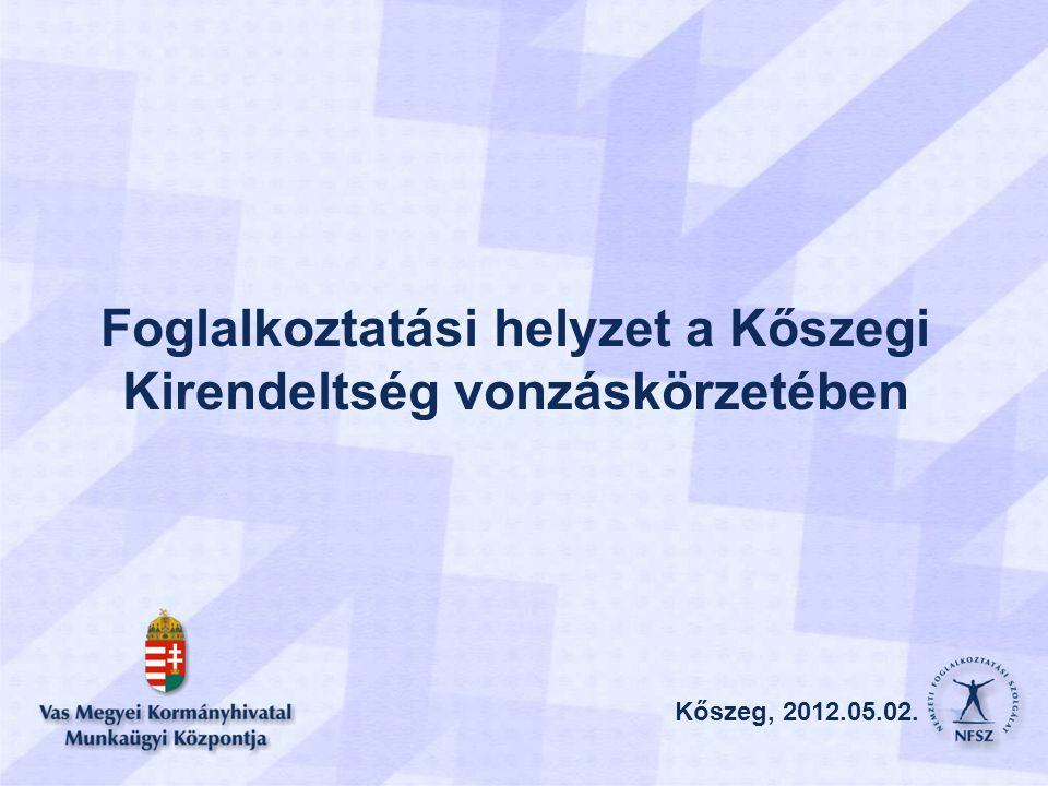 Kőszeg, 2012.05.02. Foglalkoztatási helyzet a Kőszegi Kirendeltség vonzáskörzetében Kőszeg, 2012.05.02.