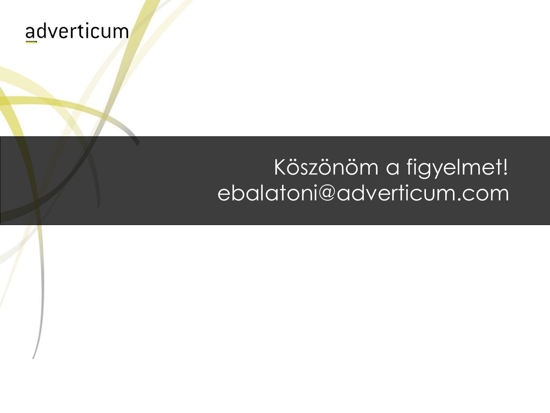 Köszönöm a figyelmet! ebalatoni@adverticum.com