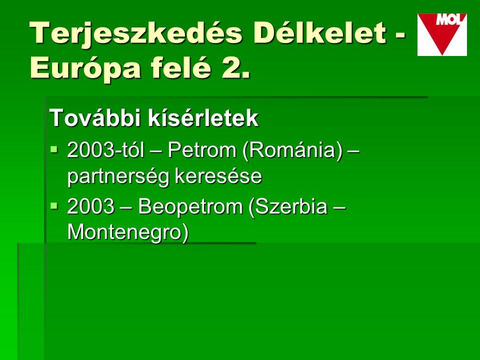 Terjeszkedés Délkelet - Európa felé 2.