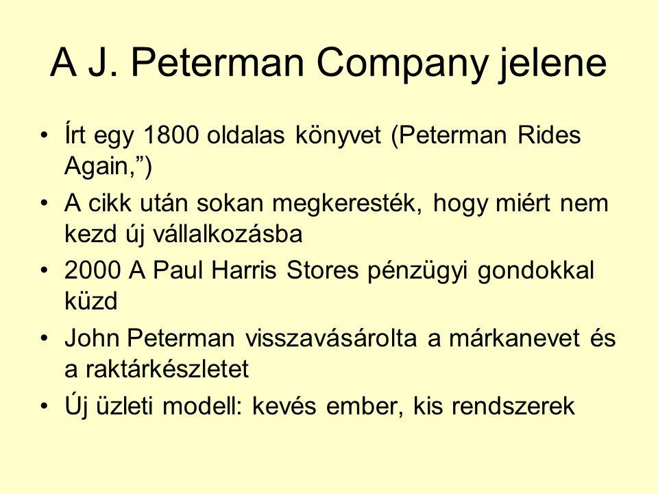 """A J. Peterman Company jelene Írt egy 1800 oldalas könyvet (Peterman Rides Again,"""") A cikk után sokan megkeresték, hogy miért nem kezd új vállalkozásba"""