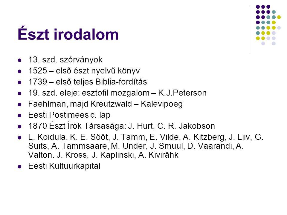 Észt irodalom 13.szd.