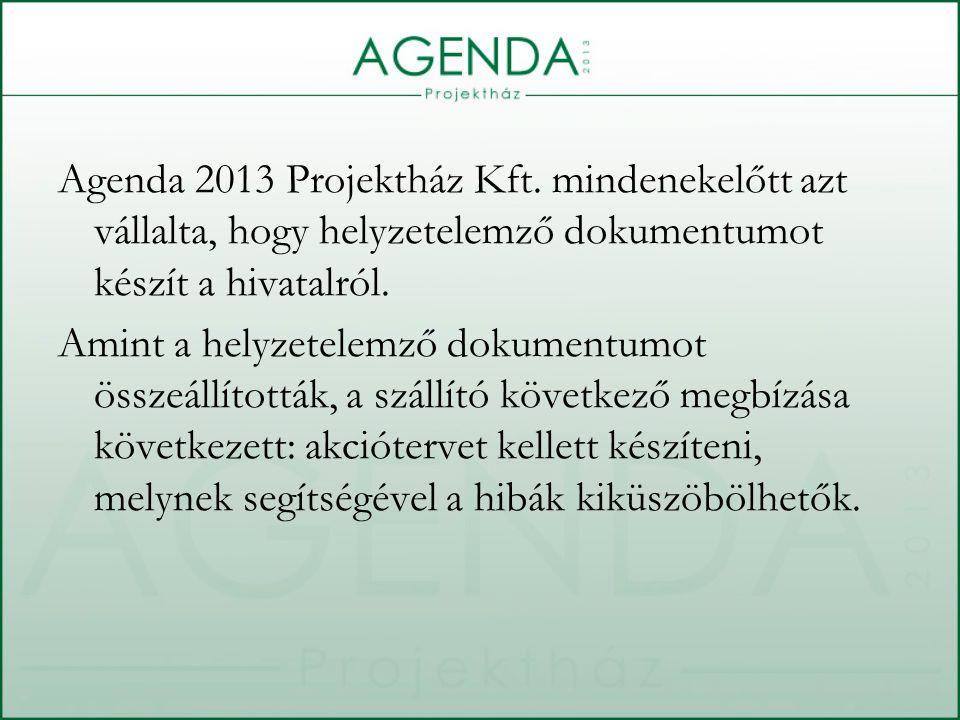 A hivatal működését már a pályázati projekt előtt is különböző értékekkel mérték.