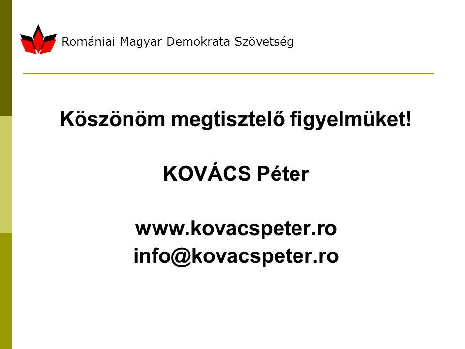 Romániai Magyar Demokrata Szövetség Köszönöm megtisztelő figyelmüket.