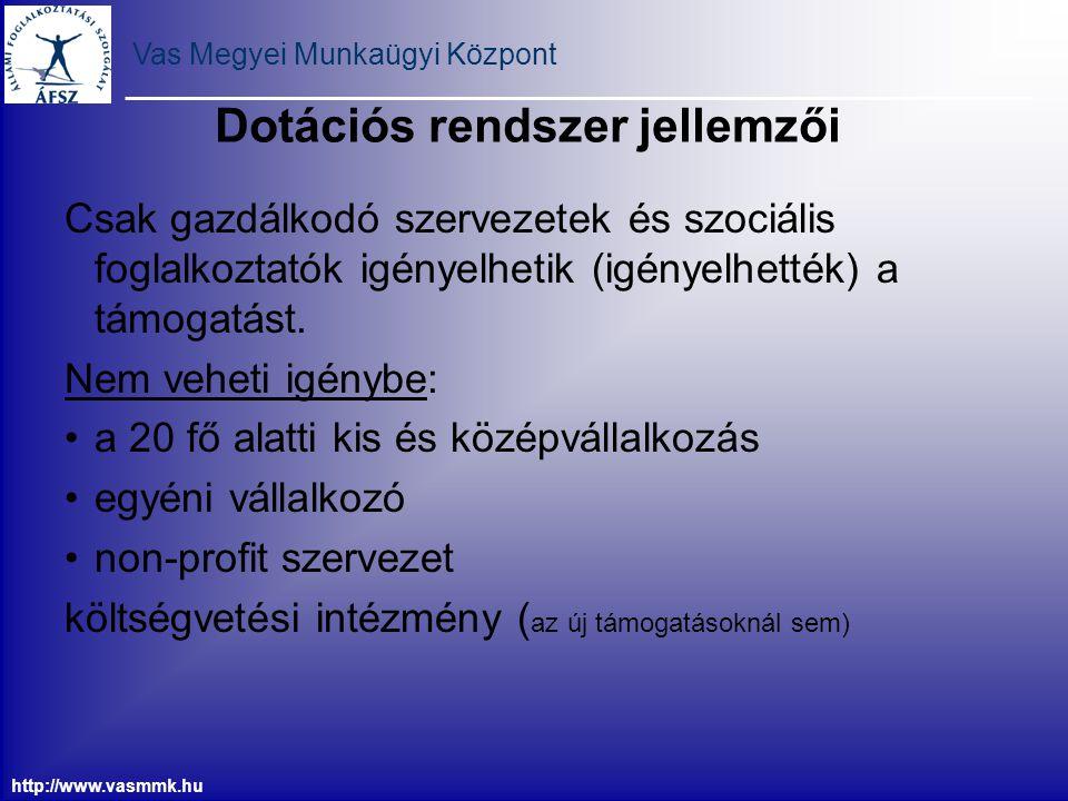 Vas Megyei Munkaügyi Központ http://www.vasmmk.hu Csak gazdálkodó szervezetek és szociális foglalkoztatók igényelhetik (igényelhették) a támogatást. N