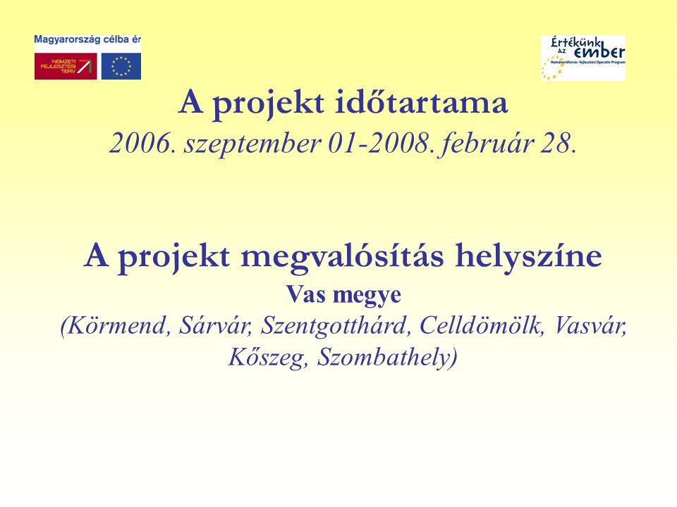 A projekt időtartama 2006. szeptember 01-2008. február 28.