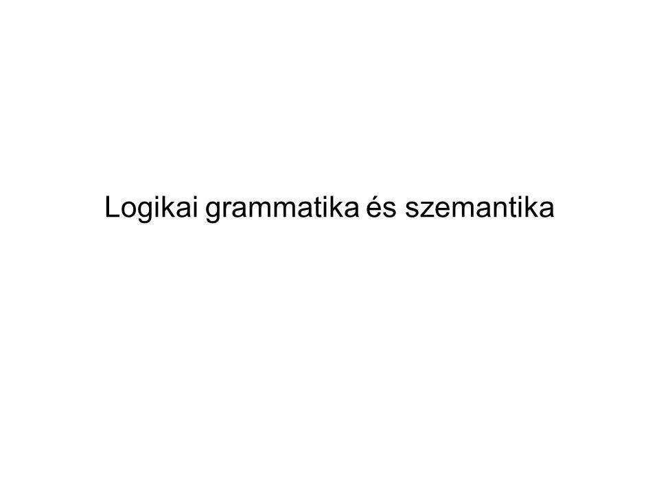 Logikai grammatika és szemantika