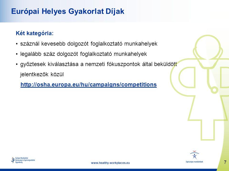 www.healthy-workplaces.eu Kampány indulása 2012.április 18.