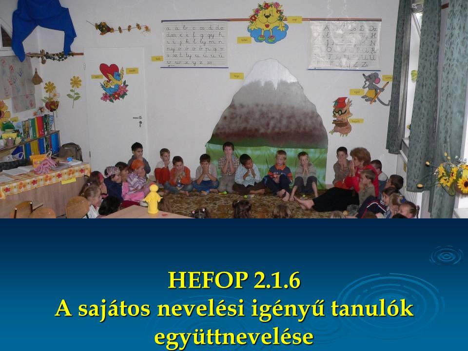 HEFOP 2.1.6 A sajátos nevelési igényű tanulók együttnevelése