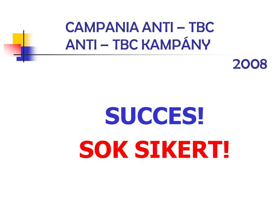 CAMPANIA ANTI – TBC ANTI – TBC KAMPÁNY 2008 SUCCES! SOK SIKERT!